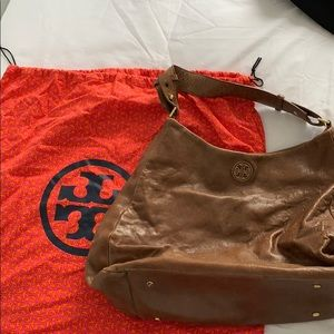 Tory Burch beige leather bag